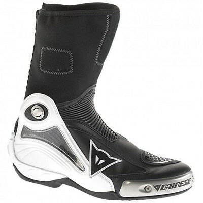 Dainese Axial Pro In White / Black Motorcycle Motorbike Racing Sports Bike Boots