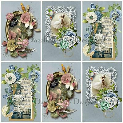 Amelia Rose...Ideal for Toppers, Embellishments, Card Making, Crafting