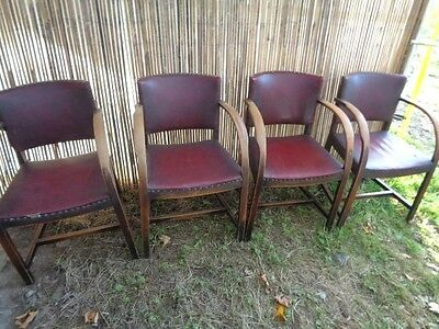 Set Of 4 Beautiful Antique Dinning / Sitting  Chairs