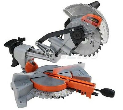 Heavy Duty 1400W 190Mm Sliding Compound Mitre Cutting Saw 230V New