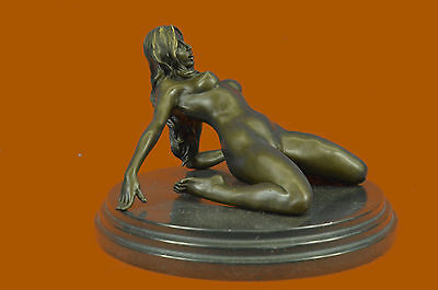 Handcrafted Sexy Nude Woman Bronze Sculpture Collectible Lost Wax Figurine Sale