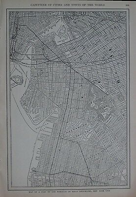 Original 1923 Streetcar Subway Map BROOKLYN Bridges Ferries Borough Park Dumbo