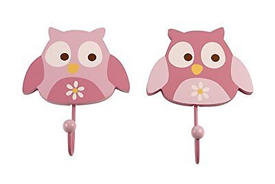 Nojo Wall Hooks Owl 2 Count New