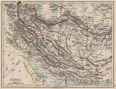 PERSIA. Showing provinces. Iran. Persian Gulf. Bushire.  JOHNSTON 1900 old map