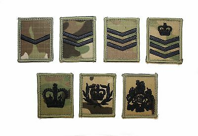 British Army & Royal Marines MTP / Multicam Rank Patch / Badge UBACS & ID panels