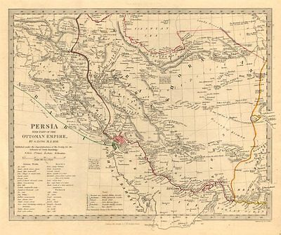 PERSIA (IRAN) . With part of the Ottoman Empire. Iraq. SDUK 1846 old map