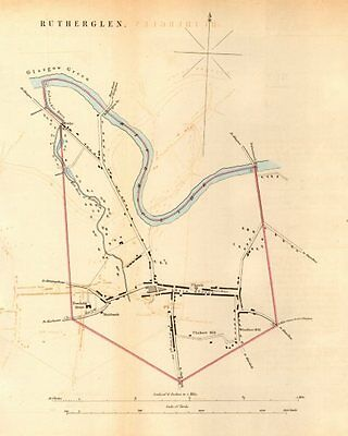 RUTHERGLEN borough/town plan for the REFORM ACT. Scotland 1832 old antique map
