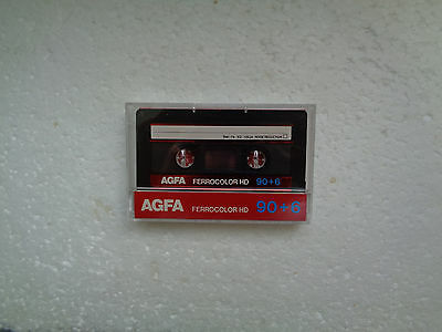 Vintage Audio Cassette AGFA Ferrocolor 90+6 From 1985 - Fantastic Condition !!