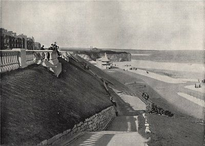 ROKER. the beach, from the terrace. Sunderland 1895 old antique print picture