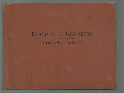 1926 Edition Descriptive Geometry By Anthony And Ashley