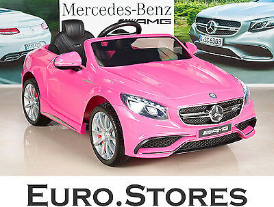 Mercedes-Benz Coupe S63 AMG Electric Kids Ride On Car Pink Genuine New Best Gift