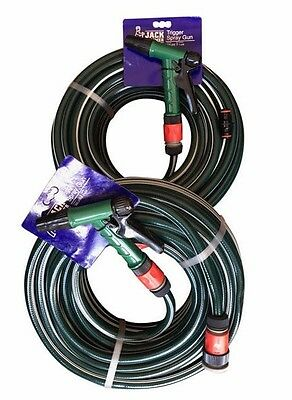 """2 X 30M Durable 1/2"""" Garden Water Hose 12MM Fittings & Pistol Free Nylex Joiner"""