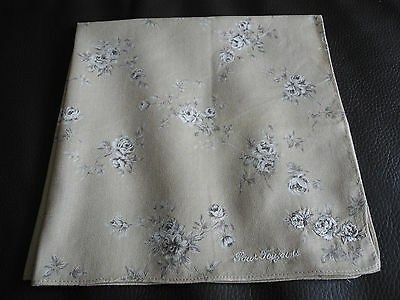 Japan Scarf Square Handkerchief Hanky Rose Floral Brown CottonFabric Women Lady