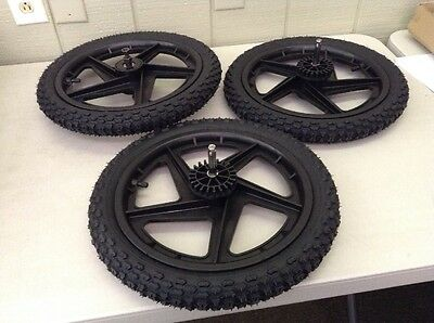 Tike Tech X3 Double Stroller Complete Wheel Replacement Set