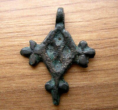 Ancient Viking Bronze Cross Pendant RARE!!!.