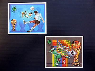 LIBYA 1982 Football World Cup Pair of Imperf M/Sheets Incl SEE BELOW FP8374