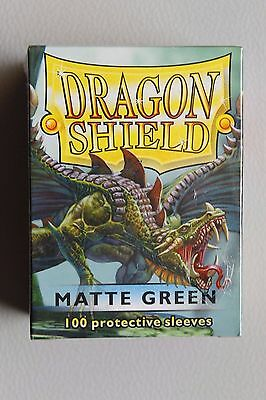 Dragon Shield 100 Protective Sleeves In Sealed Box - Matte Green