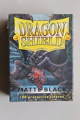 Dragon Shield 100 Protective Sleeves In Sealed Box - Matte Black
