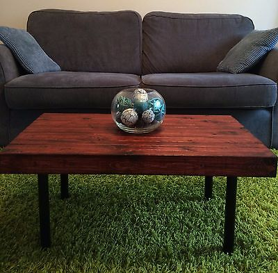 Rustic wooden coffee table - solid wood - country cottage style - handmade