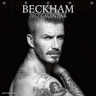 David Beckham Calendar 2017 with free pull out poster
