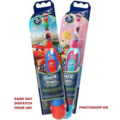 Oral-B Stages Power Battery Toothbrush For Kids- Princess Design- Shop Model