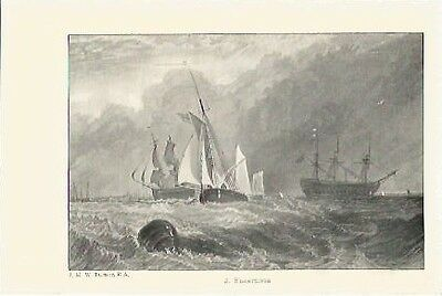 Antique Print The Harbours England Sheerness by J.M.W TURNER Christmas Present