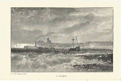Antique Print The Harbours of England Margate by J.M.W. TURNER