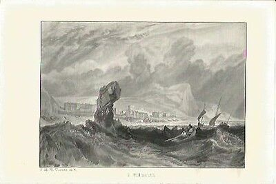 Antique Print The Harbours of England Sidmouth by J.M.W. TURNER