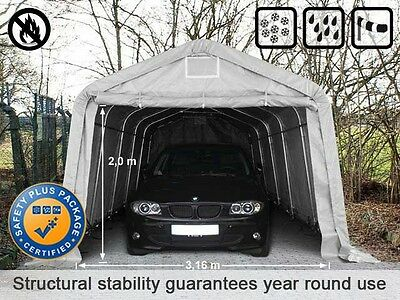 3.6x6.0 720gsm PVC Carport Tent Portable Garage Vehicle Shelter Car Canopy green
