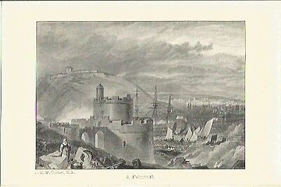 Antique Print The Harbours of England Falmouth by J.M.W. TURNER