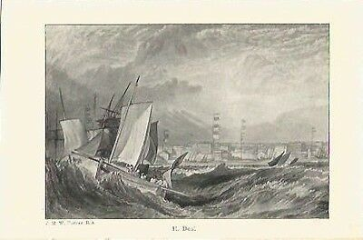Antique Print The Harbours of England Deal by J.M.W. TURNER