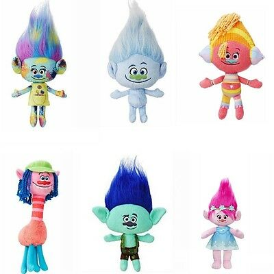 UK Kids Gift DreamWorks Movie Trolls Plush Doll Large Poppy Branch Hug 'N Toys