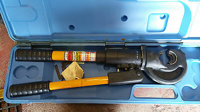 """EP-410: 12 Ton Compression Tool with Rubber Boot – 1"""" Jaw Opening"""