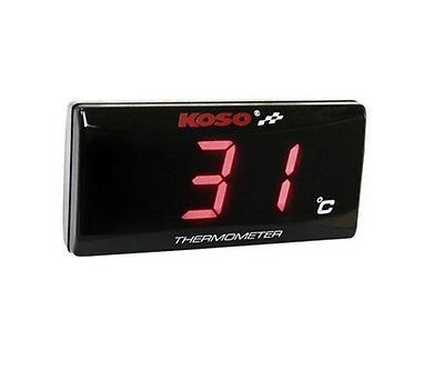 Koso super slim digital thermometer with red backlight