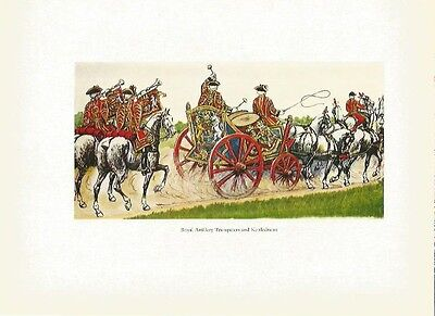 Uniforms of the British Army Royal Artillery Trumpeters Kettledrums Colour Print