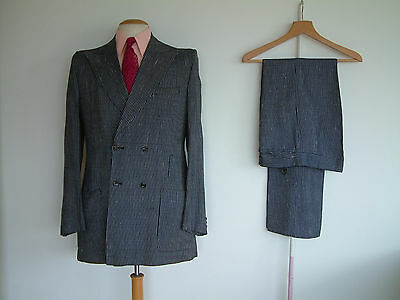 "1960's DOUBLE BREASTED SUIT..HARRY FENTON..40""x 34""..BRYAN FERRY..MR.FISH..ITALY"