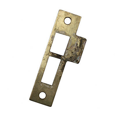 "Antique Strike Plates for Mortise Locks, 5/32"" Spacing NSTP27"