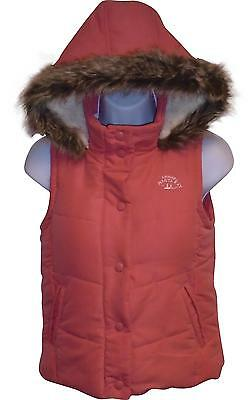 Used Girls Debenhams Quilted Gilet Pink Age 8-9 Years (T.W)
