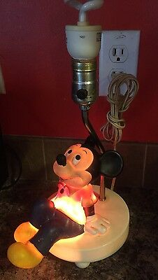 Vintage  Mickey Mouse/Disney 3 Way Table Lamp/Night Light, 1970's