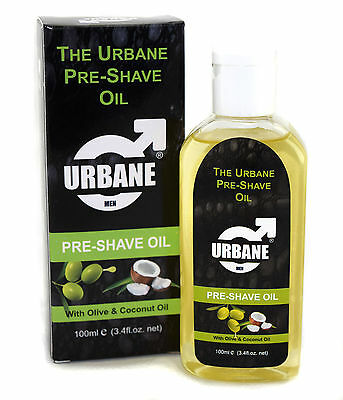 Urbane Men Pre-Shave Oil for Manual & Electric 100ml