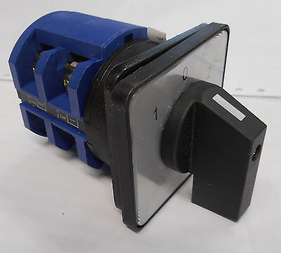 ROTARY SWITCH 63A 2 POLE PANEL CAM  Selector CHANGEOVER 3 POSITION CONTROL CO632