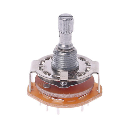 RS25 Shaft Panel Mount 2P5T Rotary Switch Selector Band 2 Pole 5 Position