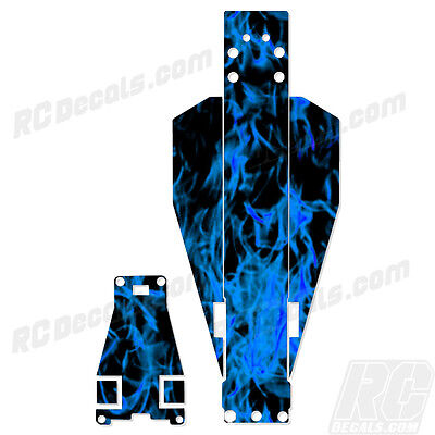 Traxxas Rustler Or Bandit Chassis Protector Flames - Blue TRA3722