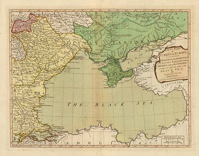 'First Part of Turkey in Europe…' by DUNN/LAURIE & WHITTLE. Black Sea 1794 map