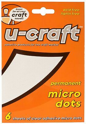 12 x U-Craft Micro Adhesive Glue Dots Permanent Extra Strength 6 sheets 201055