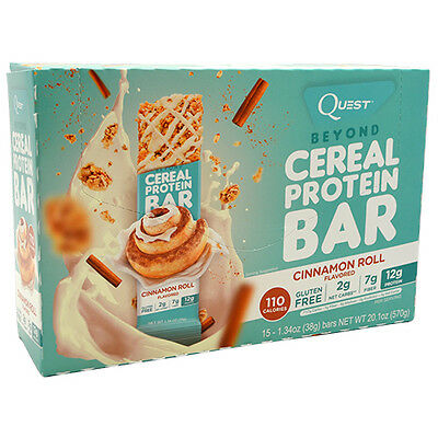 Quest Nutrition Beyond Cereal Bar 15Ct Breakfast Protein Bar New Allulose Cereal