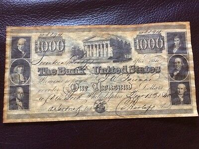 The Bank United States $1000 Celebrating Bill 100 Years The First National Bank