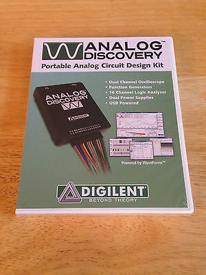 Digilent - Analog Discovery Portable Circuit Design Kit - NEW SEALED