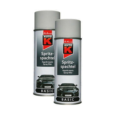 2x KWASNY 233 032 AUTO-K BASIC Spritzspachtel Grau Spray Haftgrund 400ml