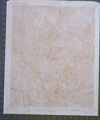 Angeles National Forest California Antique USGS Map Printed 1936 16x20 Inches